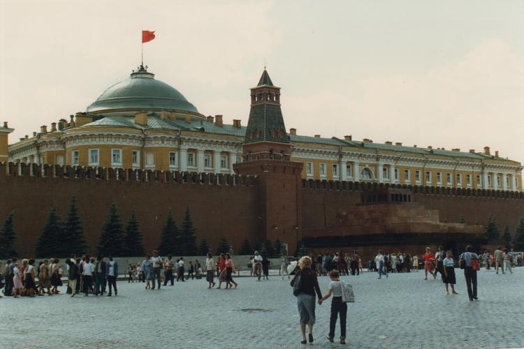 Russia Mosca Mura Del Cremlino E Palazzo Del Senato